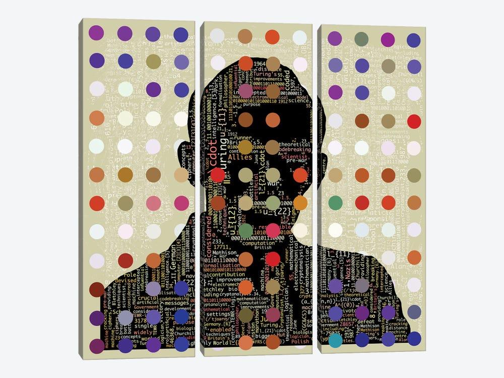 Turing Code by Czar Catstick 3-piece Canvas Wall Art