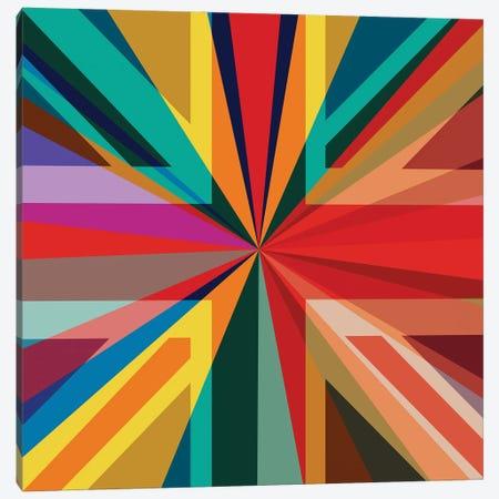 Union Square Pop Rainbow Canvas Print #CZC114} by Czar Catstick Canvas Print
