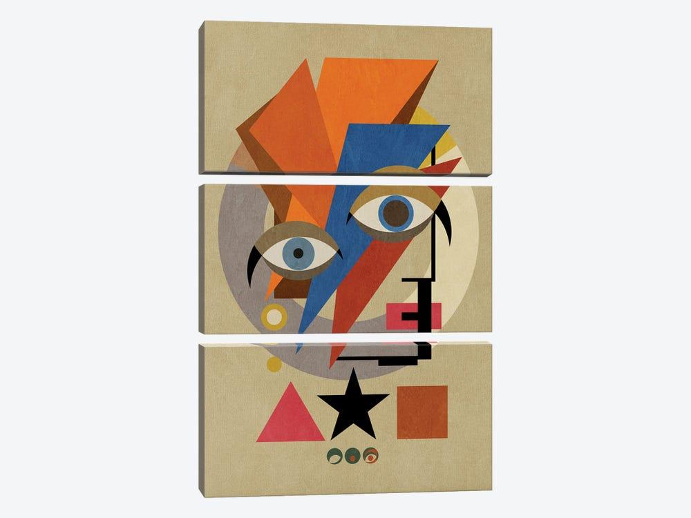 Bauwie Bauhaus I by Czar Catstick 3-piece Canvas Art