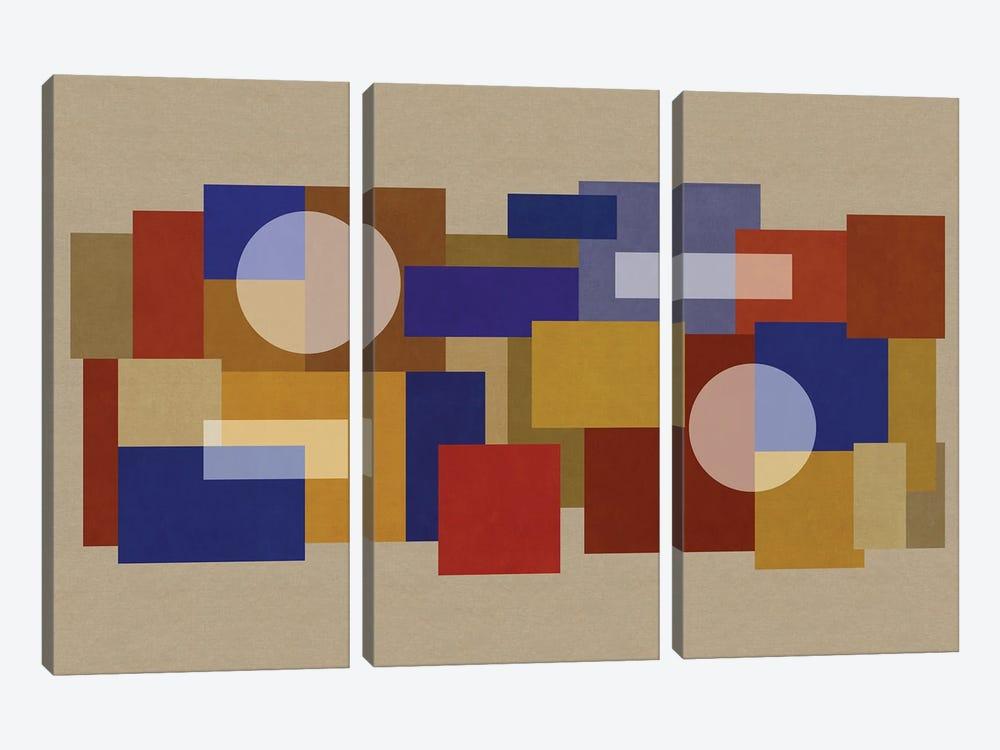 Deco Matrix XCI-XI by Czar Catstick 3-piece Canvas Print