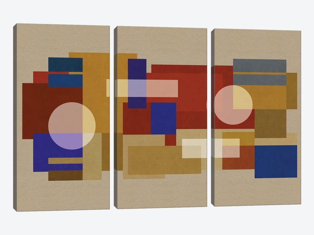Deco Matrix XCI-X by Czar Catstick 3-piece Canvas Artwork