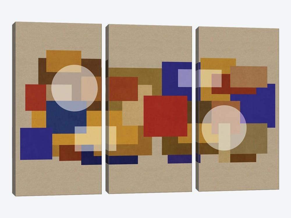 Deco Matrix XCI-I by Czar Catstick 3-piece Canvas Print