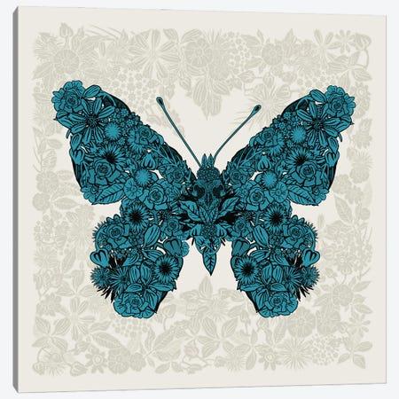 Butterfly Blue Canvas Print #CZC124} by Czar Catstick Canvas Wall Art