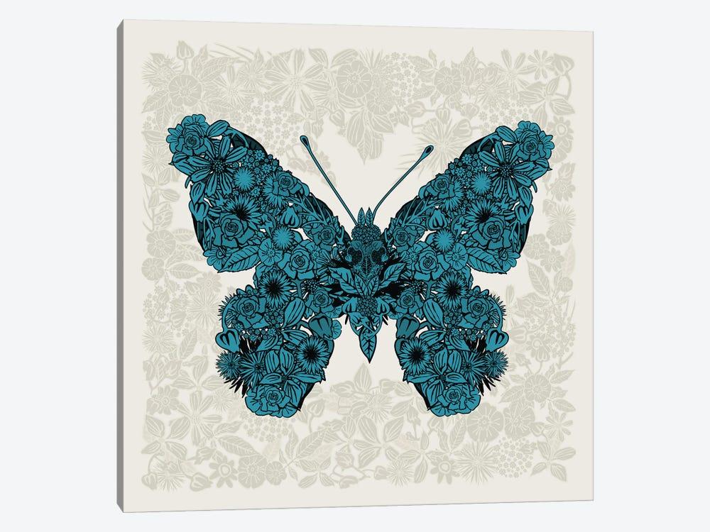 Butterfly Blue by Czar Catstick 1-piece Canvas Wall Art