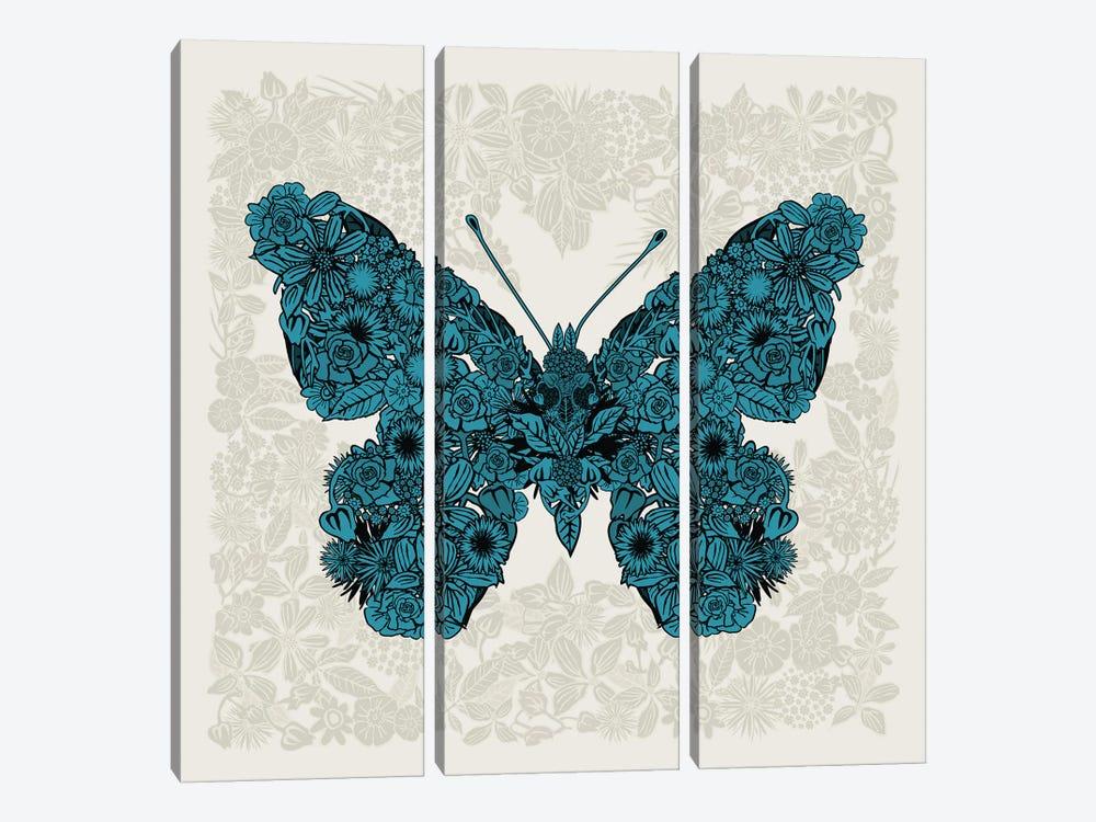 Butterfly Blue by Czar Catstick 3-piece Canvas Wall Art
