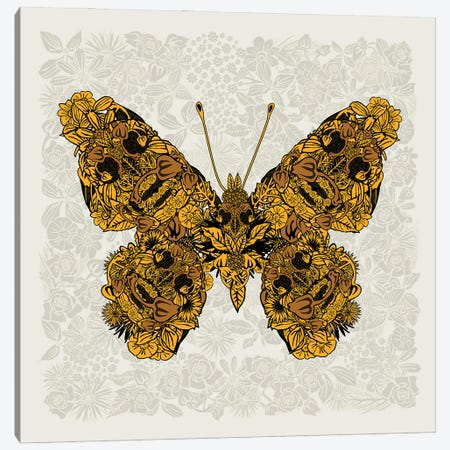 Butterfly Gold Canvas Print #CZC125} by Czar Catstick Canvas Art