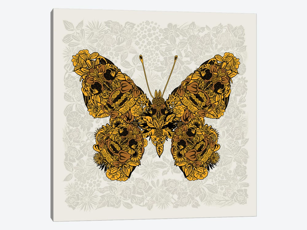 Butterfly Gold by Czar Catstick 1-piece Art Print