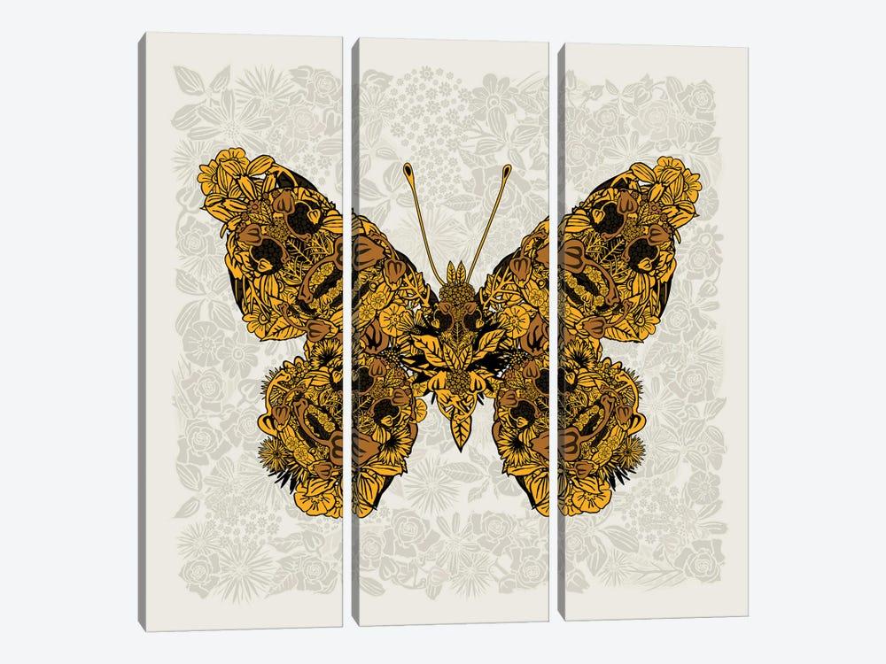 Butterfly Gold by Czar Catstick 3-piece Canvas Art Print