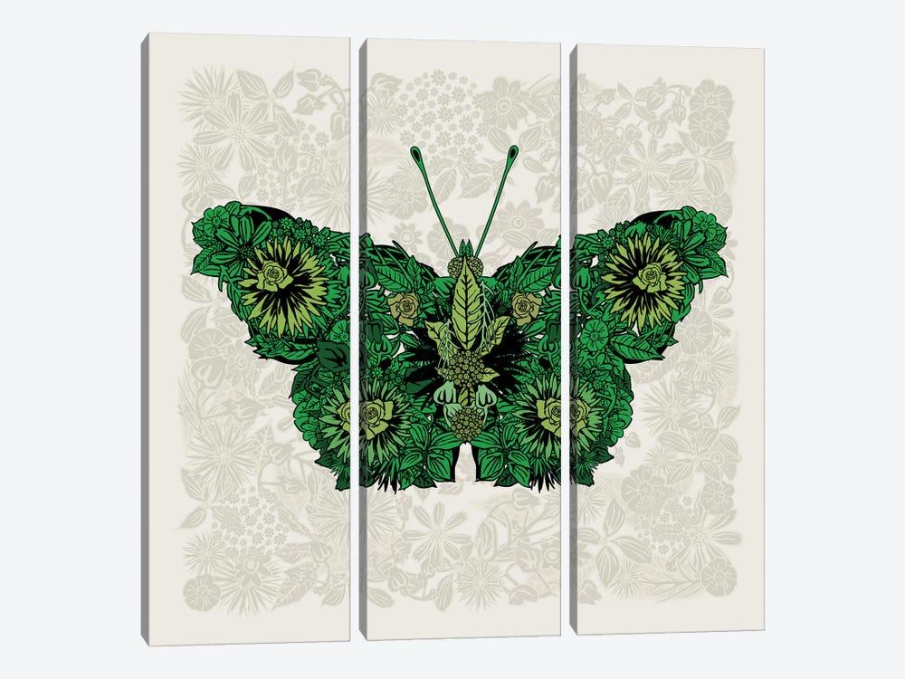 Butterfly Green by Czar Catstick 3-piece Canvas Artwork