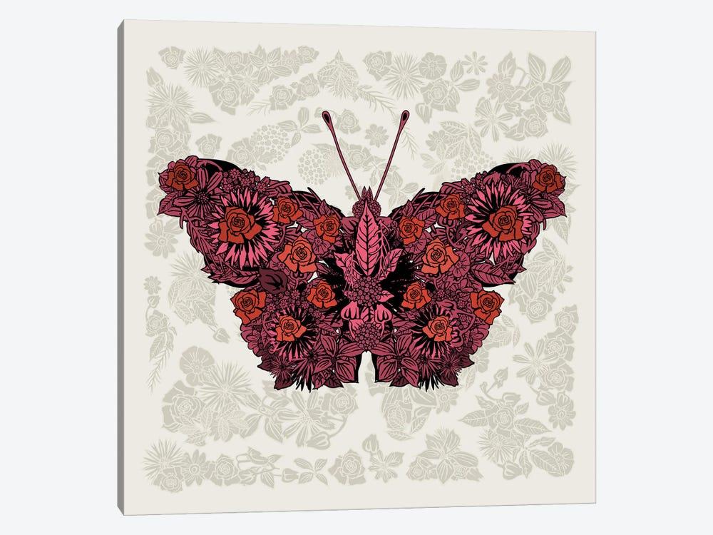 Butterfly Red by Czar Catstick 1-piece Art Print