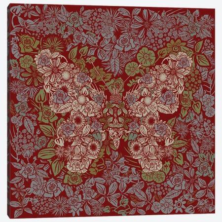 Butterfly Rose Garden Canvas Print #CZC128} by Czar Catstick Canvas Art Print