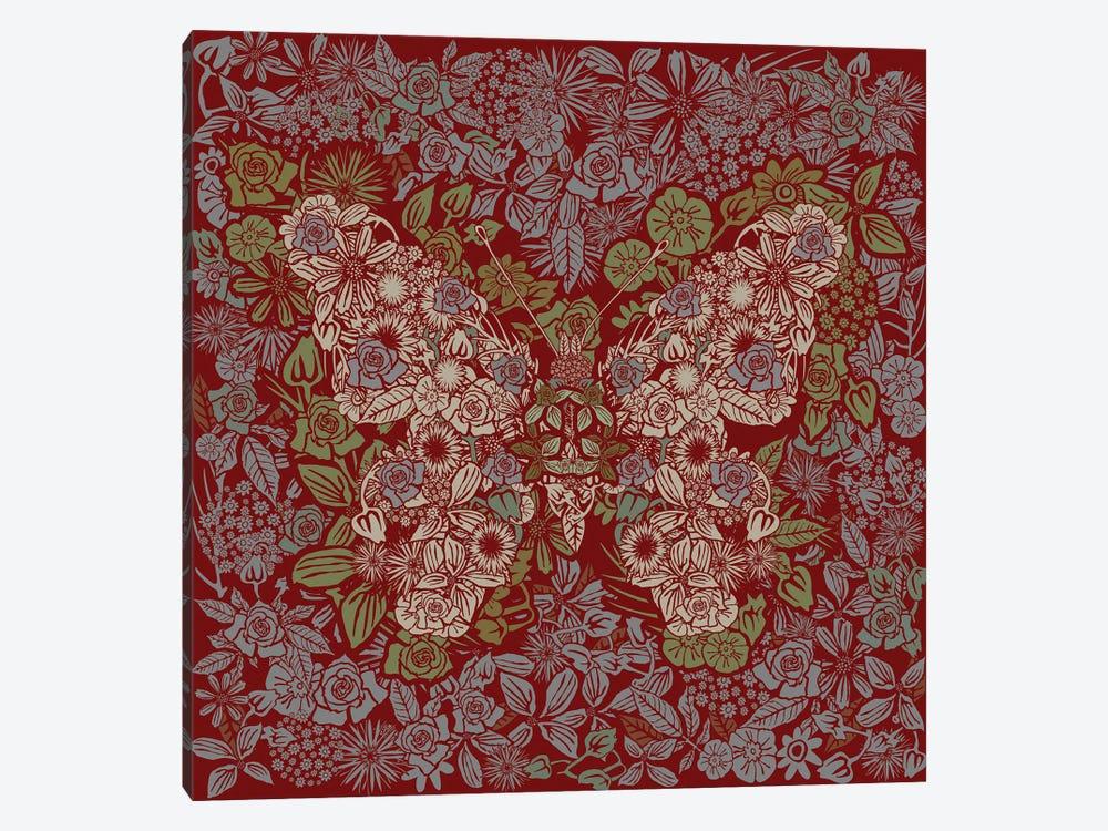 Butterfly Rose Garden by Czar Catstick 1-piece Canvas Artwork
