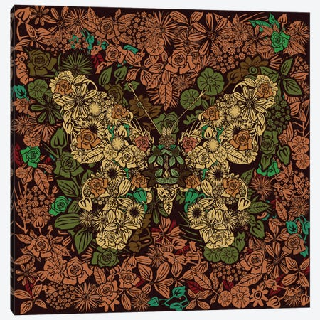 Butterfly Flower Garden Canvas Print #CZC129} by Czar Catstick Canvas Print