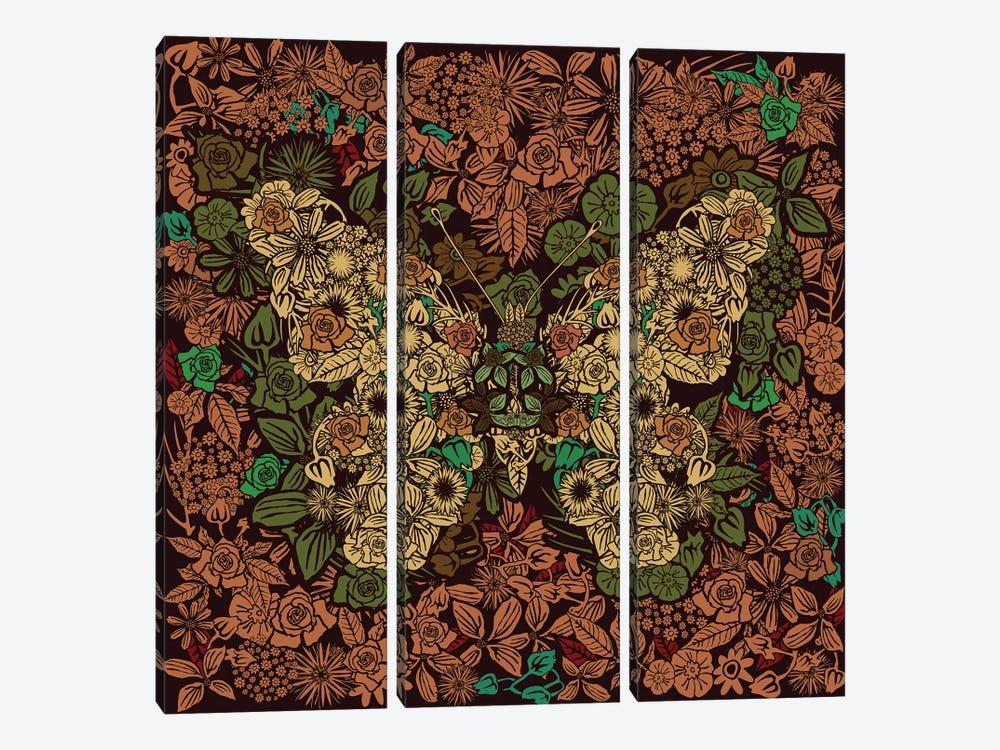 Butterfly Flower Garden by Czar Catstick 3-piece Art Print