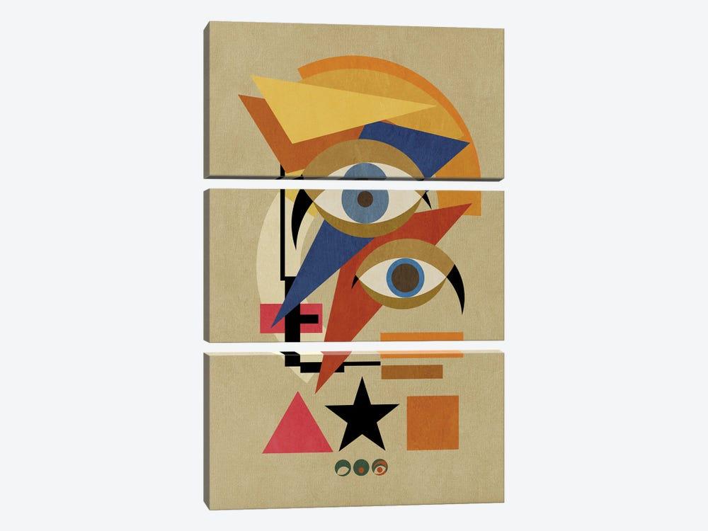 Bauwie Bauhaus III by Czar Catstick 3-piece Canvas Print