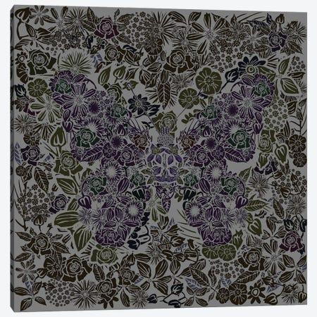 Butterfly Gray Gardens Canvas Print #CZC130} by Czar Catstick Canvas Artwork