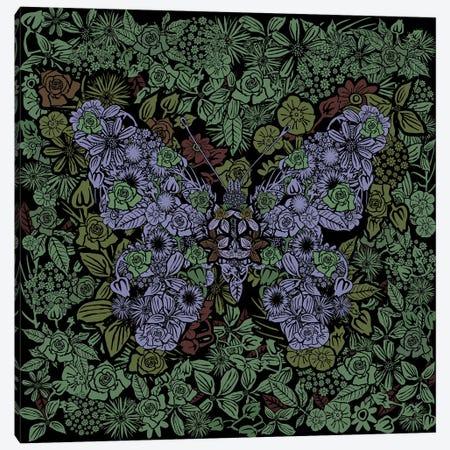 Butterfly Green Gardens Canvas Print #CZC131} by Czar Catstick Canvas Wall Art