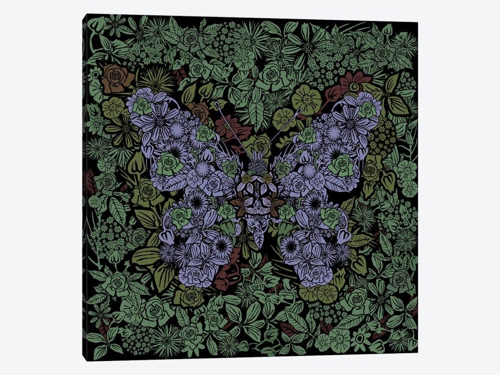 Butterfly Green Gardens by Czar Catstick 1-piece Canvas Art