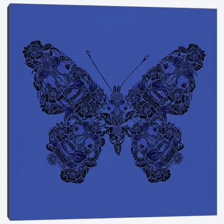 Papillon Bleu Canvas Print #CZC134} by Czar Catstick Canvas Print