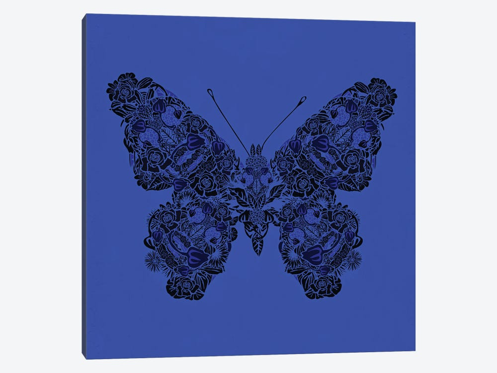 Papillon Bleu by Czar Catstick 1-piece Canvas Art Print