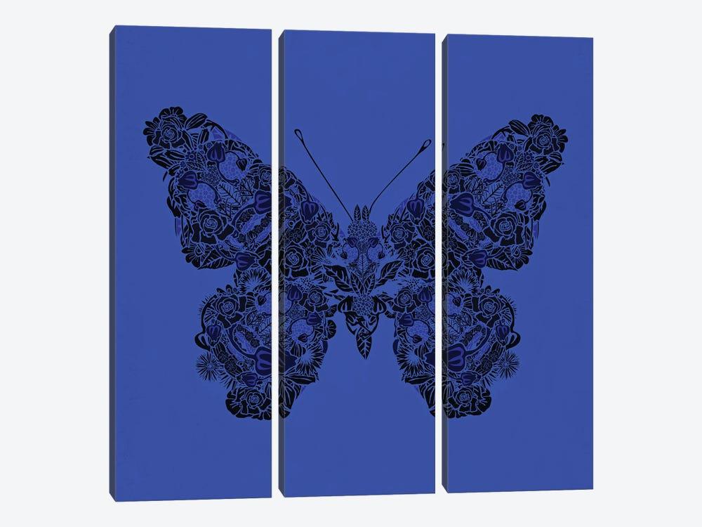 Papillon Bleu by Czar Catstick 3-piece Art Print