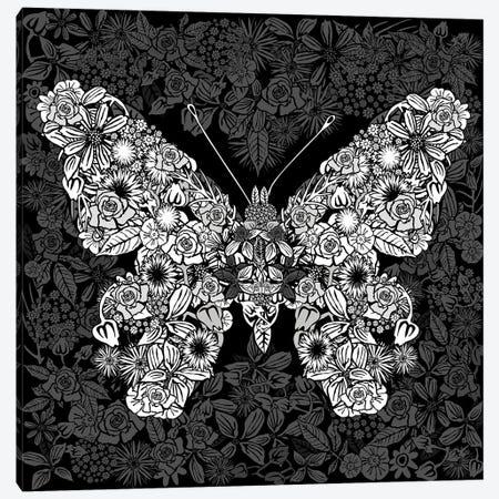 Papillon Des Fleurs Canvas Print #CZC136} by Czar Catstick Art Print