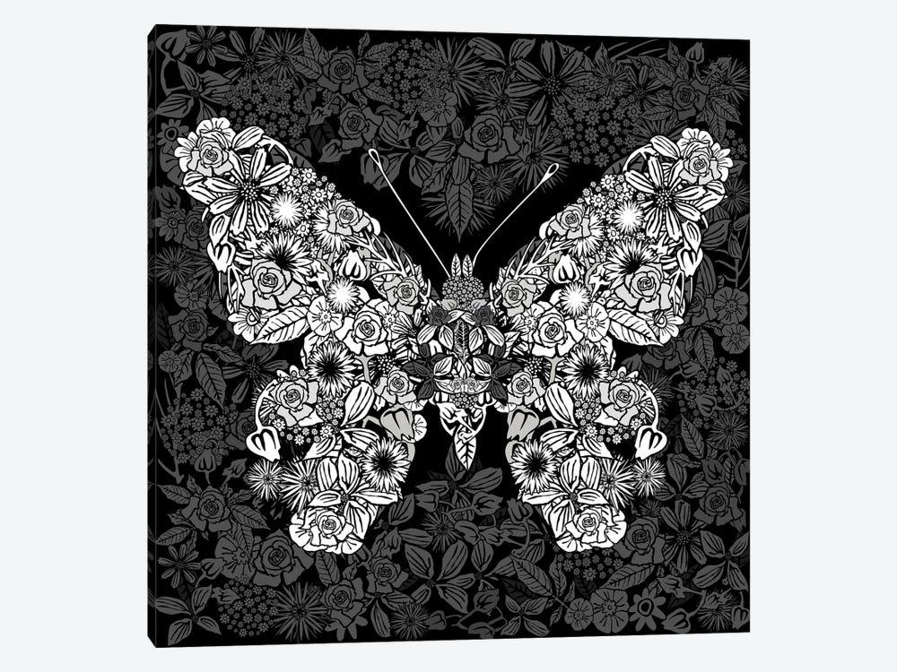 Papillon Des Fleurs by Czar Catstick 1-piece Canvas Art Print