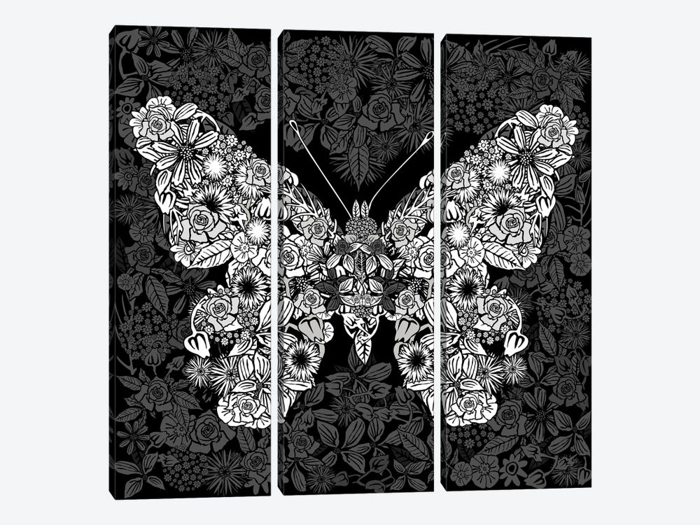 Papillon Des Fleurs by Czar Catstick 3-piece Art Print