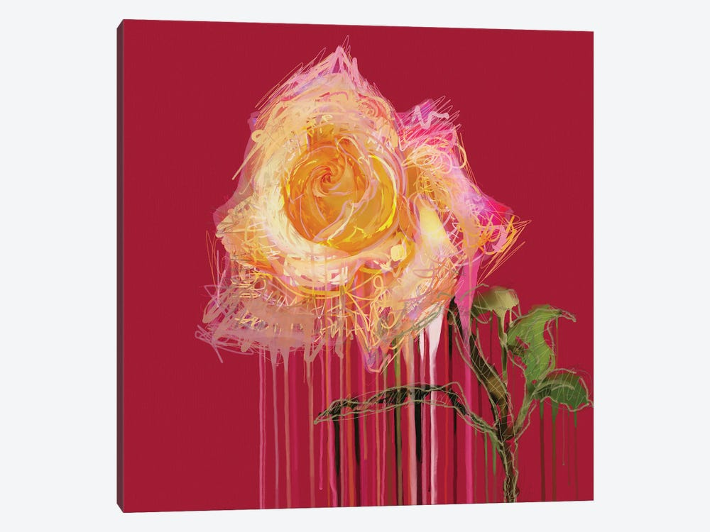 A Rose By Any Other Name (Red) by Czar Catstick 1-piece Art Print