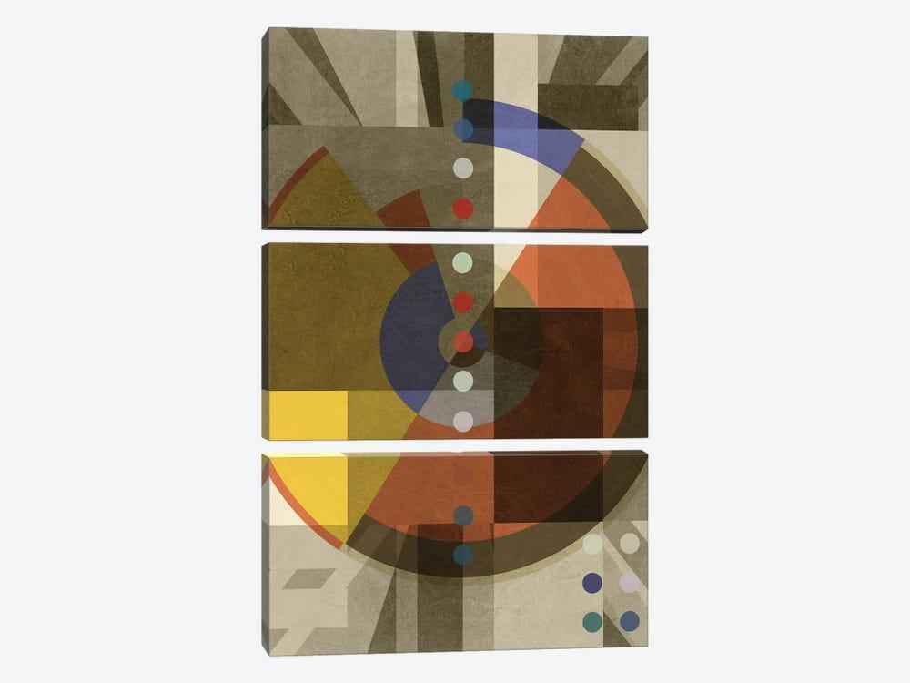 Composition III by Czar Catstick 3-piece Canvas Art Print