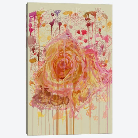 Les Fleurs III Canvas Print #CZC56} by Czar Catstick Art Print