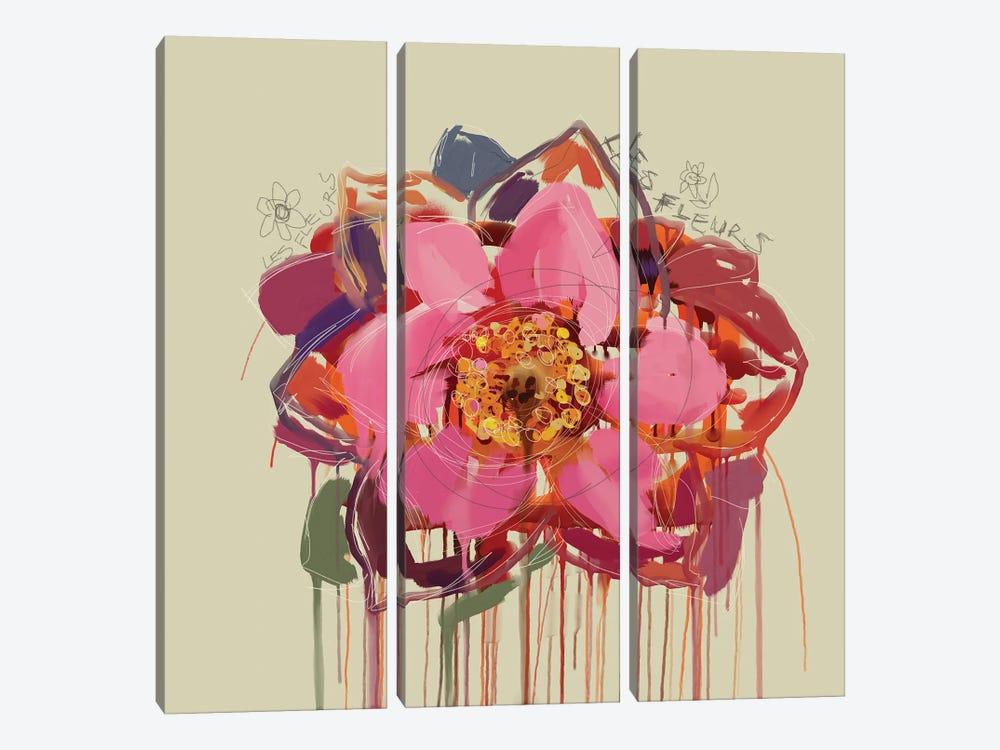 Les Fleurs by Czar Catstick 3-piece Canvas Print