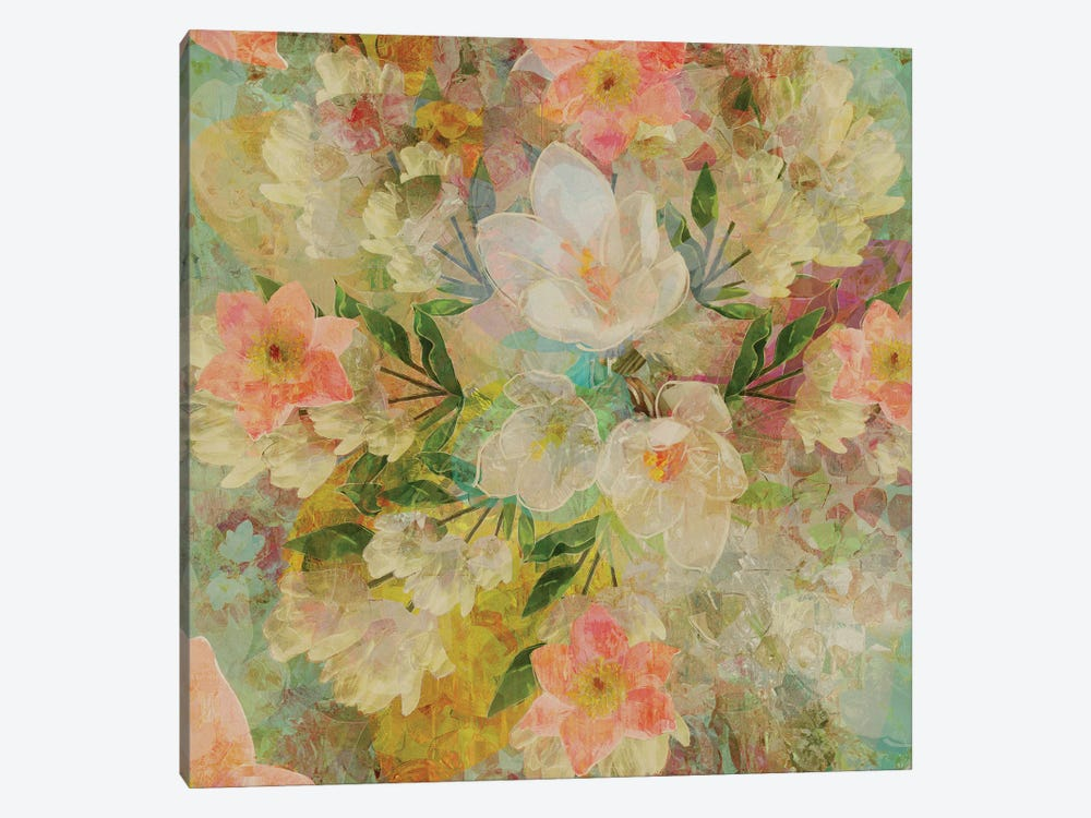 Alhambra Florals by Czar Catstick 1-piece Canvas Print