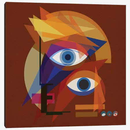 Bauhaus Bowie - Red Canvas Print #CZC8} by Czar Catstick Canvas Artwork