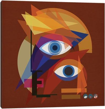 Bauhaus Bowie - Red Canvas Art Print