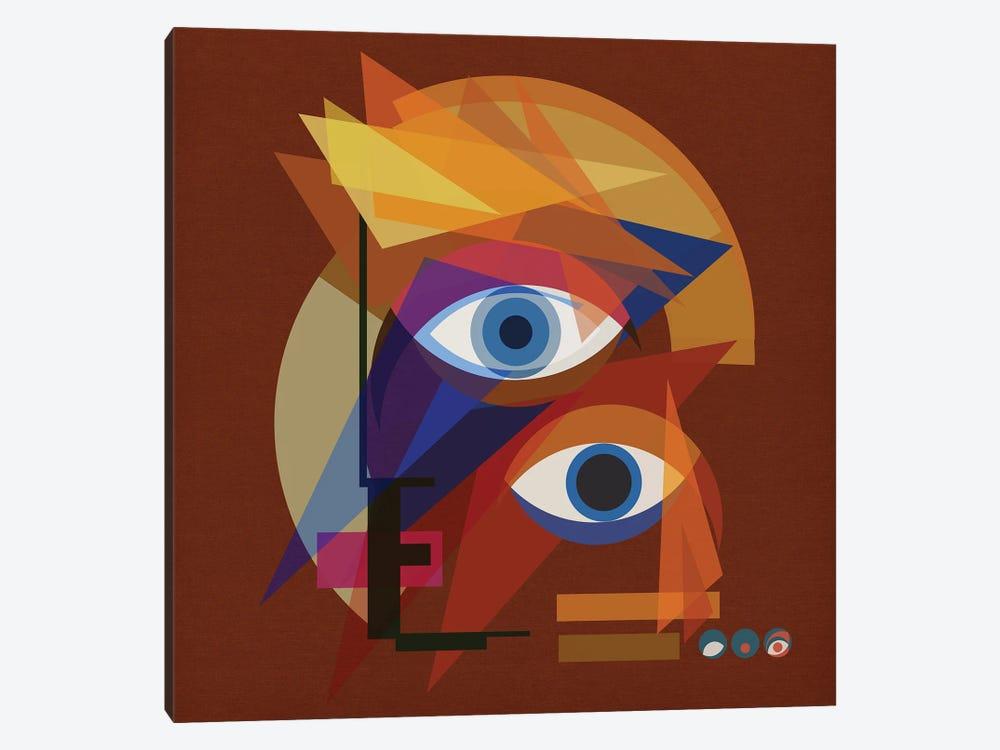 Bauhaus Bowie - Red by Czar Catstick 1-piece Canvas Print