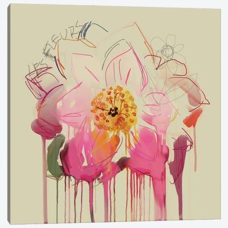 Pink Petals Canvas Print #CZC94} by Czar Catstick Canvas Art Print