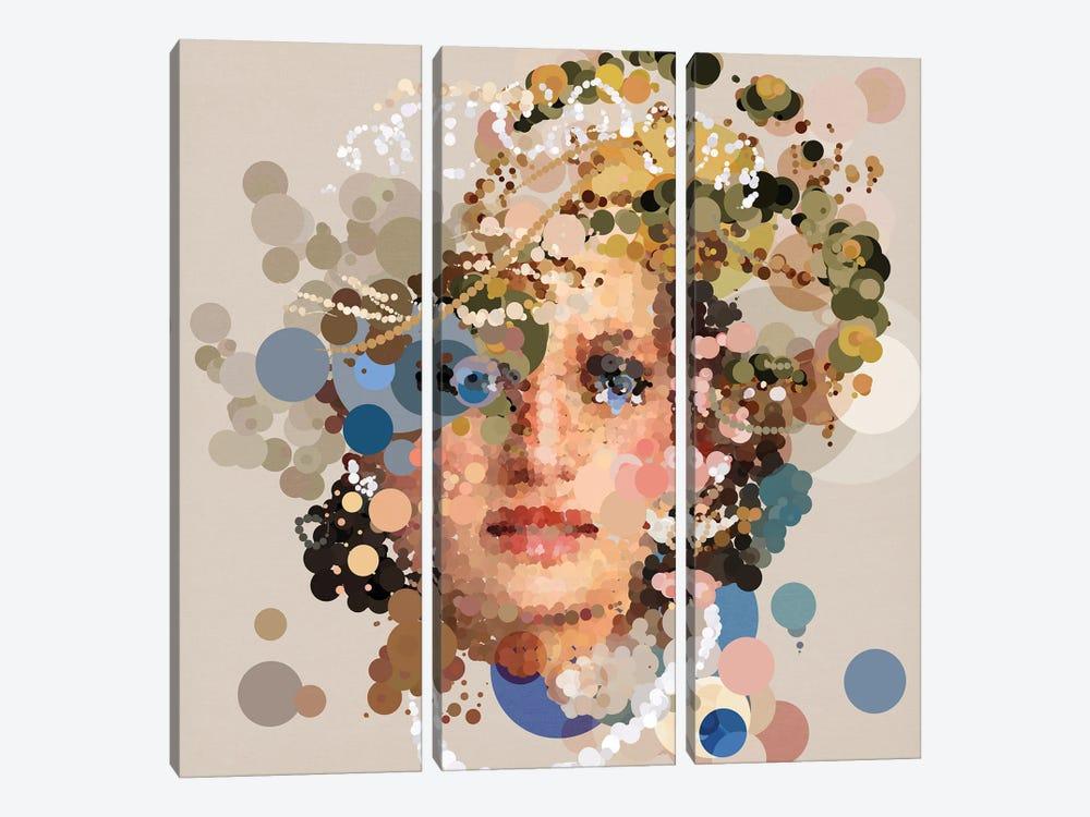Pop Princess by Czar Catstick 3-piece Canvas Wall Art