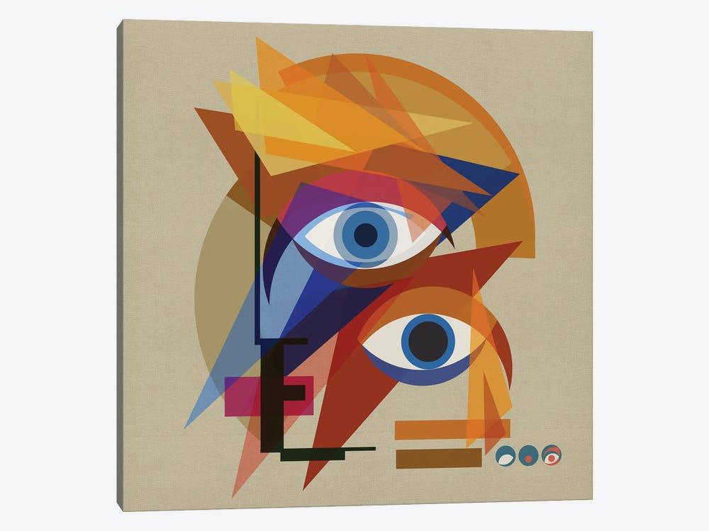 Bauhaus Bowie by Czar Catstick 1-piece Canvas Art