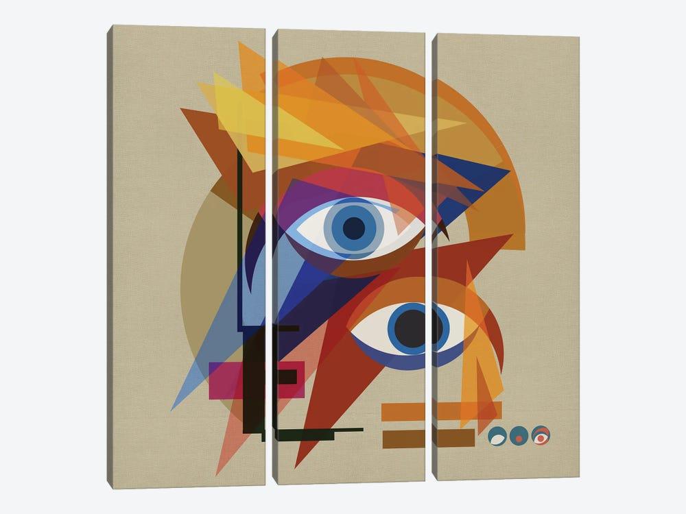 Bauhaus Bowie by Czar Catstick 3-piece Canvas Art