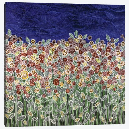 Garden Beneath The Blue Sky Canvas Print #CZS14} by Carol Zsolt Art Print