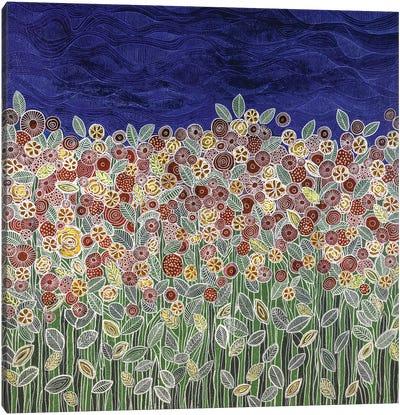 Garden Beneath The Blue Sky Canvas Art Print
