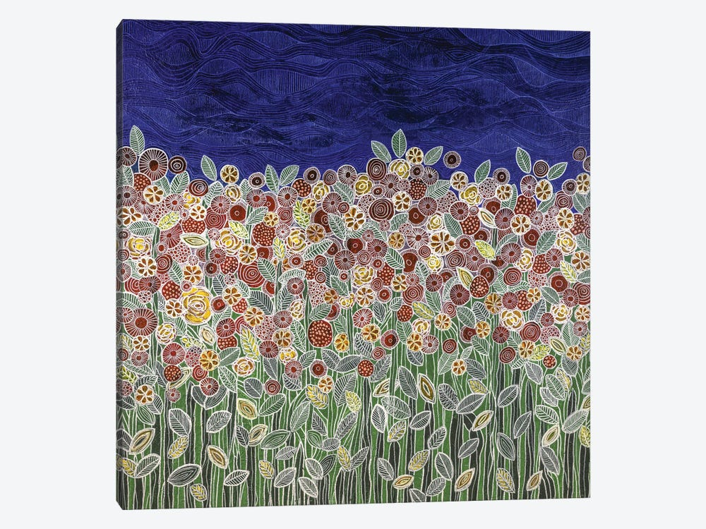 Garden Beneath The Blue Sky by Carol Zsolt 1-piece Canvas Art