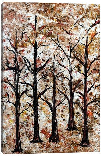 Trees in bush Canvas Art Print