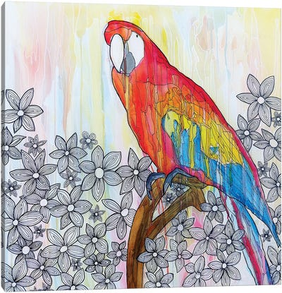 Abstract Bird Canvas Art Print