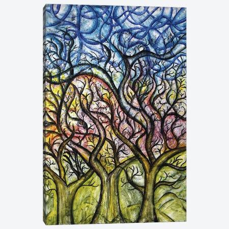 Abstract Tree Canvas Print #CZS2} by Carol Zsolt Art Print
