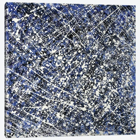 Abstract Shades Of Blue And White Canvas Print #CZS35} by Carol Zsolt Canvas Art Print