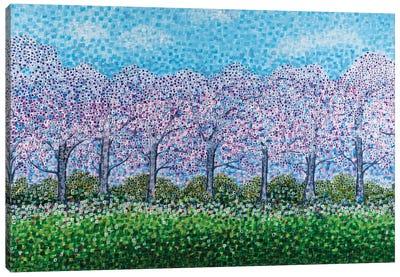 Jacaranda Love Canvas Art Print