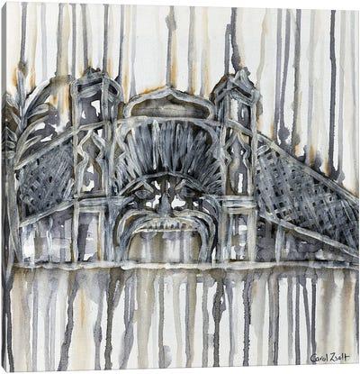Luna Park Melbourne With Grey Canvas Art Print