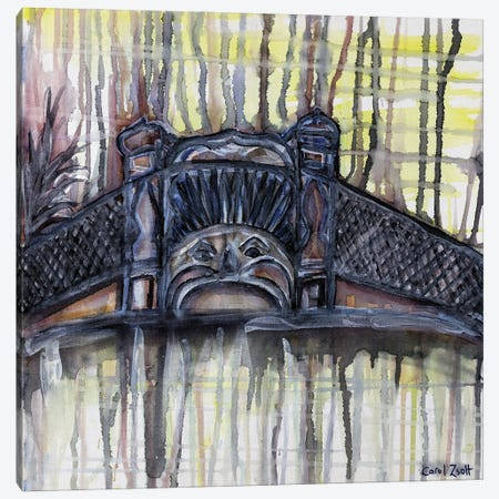 Luna Park Melbourne With Yellow Canvas Print #CZS78} by Carol Zsolt Canvas Artwork